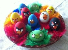 angry bird Easter eggs to color for kids
