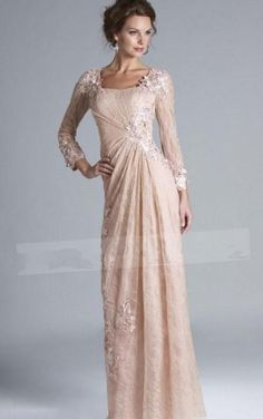 Pink Mother Of The Bride Dresses 2017 Plus Size Long Sleeve Prom Dresses  Elegant Special Occasion · Evening Gowns With ... 729ebee7a8f1