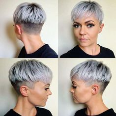 Today we have the most stylish 86 Cute Short Pixie Haircuts. We claim that you have never seen such elegant and eye-catching short hairstyles before. Pixie haircut, of course, offers a lot of options for the hair of the ladies'… Continue Reading → Brown Pixie Hair, Short Grey Hair, Short Hair Cuts, Short Hair Styles, Pixie Styles, Short Sassy Haircuts, Girl Haircuts, Undercut Hairstyles, Pixie Hairstyles