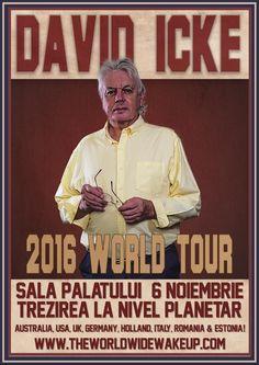 DAVID ICKE, 6 noiembrie 10:30, Sala Palatului