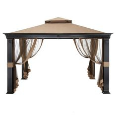 How to keep a gazebo from flying away without drilling it into your concrete patio.