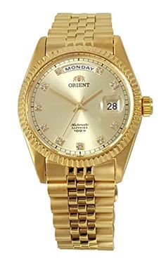 Men's Wrist Watches - ORIENT President Classic Automatic Sapphire Gold Watch EV0J001G ** Continue to the product at the image link. (This is an Amazon affiliate link)