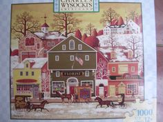 Charles Wysocki's Americana 1000 Piece Puzzle Collectible ; Meat, Flowers, Hats