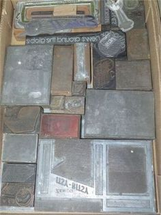 two trays of printers stamps Antique Shops, Printers, Trays, Stamps, Website, Antiques, Shopping, Seals, Antiquities