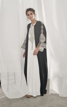 Get inspired and discover Bthaina trunkshow! Shop the latest Bthaina collection at Moda Operandi. Long Jackets For Women, Metallic Jacket, New Wardrobe, Sequin Dress, Kimono Top, Dressing, Clothes For Women, Kaftan, Collection