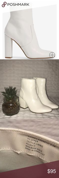 24ef446e7c0 Madden Girl White Emission S Heeled Boots NWT