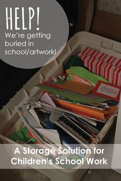 It's almost time for back to school! Get a head start keeping your Children's Artwork/Schoolwork organized with this great storage solution.
