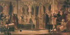 Recepción califal en Madinat al-Zahra según el pintor Dionisio Baixeras, 1885