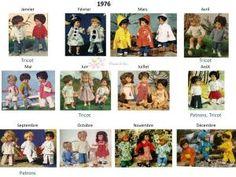 Modes et Travaux Patrons et Tricots poupée - Récapitulatif 1976-1979 • Hellocoton.fr