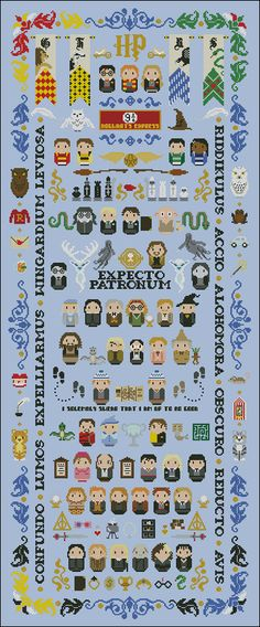 This is a parody, an inspirational cross stitch pattern of the movie series Harry Potter. The definitive pattern for all the Harry Potter fans!