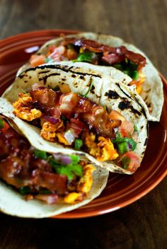 #Vegetarian #Breakfast #Tacos with a Bacony Twist | #TacoTuesday #Bacon #Mexicanfood