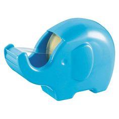 Very cute Elephant shape tape dispenser in blue!