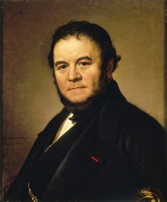 """Stendhal pen name of French novelist Marie-Henri Beyle, was a French writer. Best known for the novels Le Rouge et le Noir and La Chartreuse de Parme, is also the author of a love theory: """"Crystallization"""". Writers And Poets, Book Writer, Book Authors, Short Novels, World Literature, People Of Interest, Important People, Playwright, Famous Faces"""