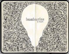 MOLESKINE DOODLES: Imagination is Power by kerbyrosanes on deviantART