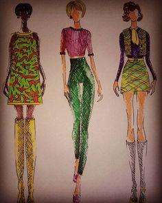 #style #fashion #desogn #designer #fashiondesigner #student #studentasfashiondesigner #illustration #fashionillustration #inspiration #inspiredbysixties #sixties #woman #girl #womenswear #moda #boots #miniskirt #whitestocks #pen #stabilo
