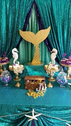 Jasmine's Little Mermaid party | CatchMyParty.com
