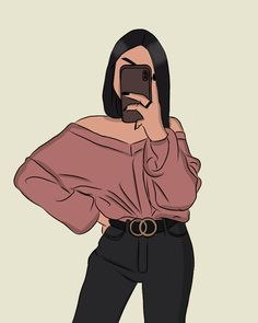 People Illustration, Illustration Girl, Illustrations, Cartoon Girl Drawing, Girl Cartoon, Girly Drawings, Digital Art Girl, Cartoon Art Styles, Aesthetic Art