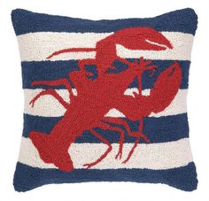 Red Lobster Hook Pillow | Coastal Style Gifts