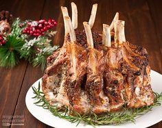 garlic herb crusted crown roast of pork this crown roast of pork is ...