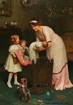 Arthur John Esley 1860-1952-Good Night.