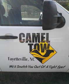 Randomly pinning from the popular page in class and came across this piece of my hometown.  Camel tow only in Fayetteville
