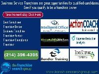 Business Services Franchise, review these Top Franchises, where do you match, need a job?, Best Franchises Franchise Broker Business franchise Franchise Advisor Franchise Consultants Franchisor call Kirk at (214) 396-4396 for more details or visit www.franchisesearchgroup.com