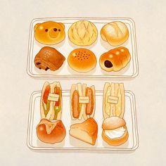 food, anime, and art image Cute Food Drawings, Kawaii Drawings, Cute Food Art, Love Food, Food Design, Food Sketch, Watercolor Food, Watercolour, Japon Illustration