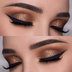 The talented @denitslava created another stunning, copper eye look, using our Schwing Liquid Eyeliner!