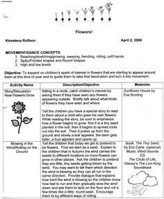 preschool ballet curriculum preschool theme creative lesson plans flowers theme 299
