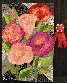 Flower Quilts at the International Quilt Shows  -  Travel Photos by Galen R Frysinger, Sheboygan, Wisconsin