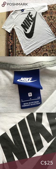 🔥BOGO NIKE Oversize Logo Tee Size Small Like new! Nike Logo Tee in a slightly oversize linger fit. Looks so good with black joggers or leggings! Perfect for the gym or everyday. Size small, could fit a medium if you prefer a more snug fit. From a pet and smoke free home 😊 Nike Tops Tees - Short Sleeve Vintage Nike, Vintage Tees, Workout Shorts, Workout Tops, Blue Med, Nike Gold, Black Joggers, Golf Shirts, White Nikes