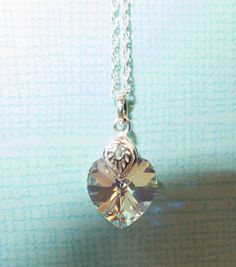 Sparkling Heart Necklace Gorgeous Gift Idea by SDiasDesigns