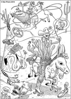 Image result for coloring pages by dan piraro