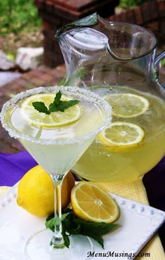 Honey Vanilla Bean Lemondrop Martinis (and a nonalcoholic version for the kiddos) - step-by-step photo tutorial.