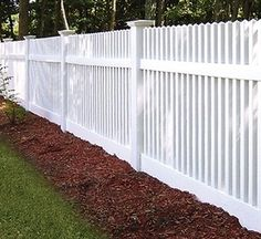 Simple and Crazy Ideas: Low Fence Driveways white fence vinyl.Restore Old Fence. Front Yard Fence, Pool Fence, Backyard Fences, Garden Fencing, Fenced In Yard, Brick Fence, Concrete Fence, Backyard Privacy, Metal Fence