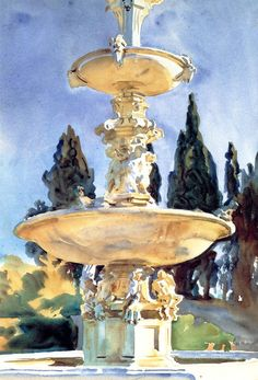 John Singer Sargent, such a great mix of warm and cool shadows