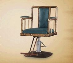 Restoring ancient ways, wrought iron ring hairdressing chair. Barber chair.. Direct lift rotating A - 033