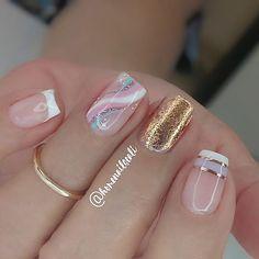 Wedding Nail Polish, Bridal Nail Art, Wow Nails, Pretty Toe Nails, Fancy Nail Art, Fancy Nails, Gelish Nails, Pedicure Nails, Cute Nail Colors