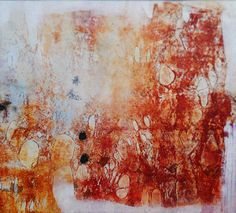 """Alvaro Pérez """"Germinación"""" Acrílico y  mixta sobre lienzo 132 x 145 cm. 2015"""