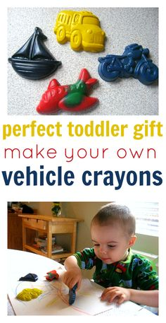 Such cute recycled crayons and the molds are cheap and come clean!