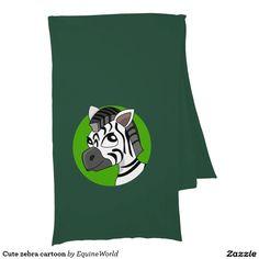Cute zebra cartoon scarf wrap