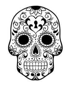 flower sugar skull coloring pages | printable coloring pages ... - Simple Sugar Skull Coloring Pages