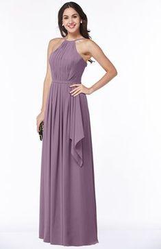 dac129e7703 ColsBM Jasmine Mauve Sexy Halter Sleeveless Zipper Chiffon Ruching Plus  Size Bridesmaid Dresses