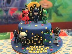 PJ Masks birthday cake for my granddaughter! Pj Masks Birthday Cake, Bithday Cake, 4th Birthday Cakes, Boy Birthday Parties, Torta Pj Mask, Pj Mask Party Decorations, Pj Mask Cupcakes, Pjmask Party, Festa Pj Masks