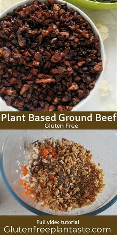A plant based ground beef that is soy free, easy to make and you will only need a handful of easy to access ingredients to make up a batch of this. It is a great plant based alternative to use in vegan shepherd's pie, vegan lasagne tacos and more. #plantbased #vegan #plantmeat Vegan Ground Beef, Vegan Beef, Vegan Recipes Plant Based, Healthy Recipes, Recipes With Soy Sauce, Vegan Casserole, Clean Eating, Healthy Eating, Quick Vegetarian Meals