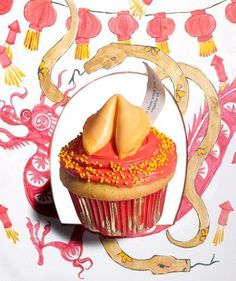 You'll find good fortune for Chinese New Year with these lucky cupcakes. These would be awesome for an adoption shower!!!
