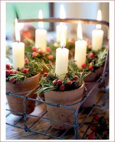тысяча разных идей - Новогодние декоративные композиции со свечами.
