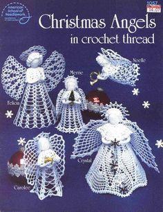 Christmas Angels in Crochet Thread, American School of Needlework Crochet Pattern Booklet 1057