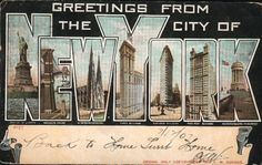 NYC Vintage Image Of The Day: Greetings From New York! | The Smoking Nun