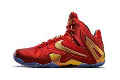 Nike LeBron 11 Elite SE University Red/Metallic Gold  #Nike